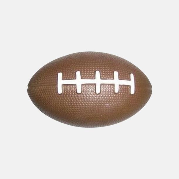 Brun/Vit (standard) Stressbollar formade som amerikanska fotbollar med reklamtryck