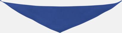 Blå Små bandana-sjalar för mjukisdjur - med reklamtryck