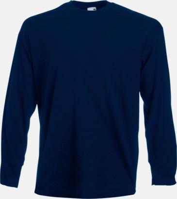 Deep Navy Långärmad t-shirt med reklamtryck