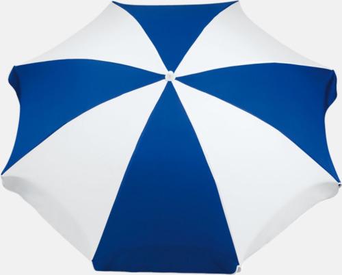 Blå / Vit Parasoller med eget tryck