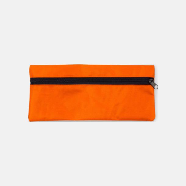 Orange Klassiska pennskrin med tryck