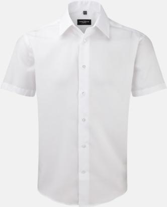 Vit (kortärmad) Strykfri businessskjorta