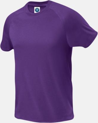 Lila (endast herr) Funktions t-shirts i herr- & dammodell med reklamtryck
