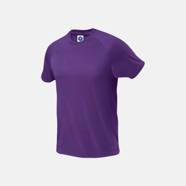 Lila (herr) Funktions t-shirts i herr- & dammodell med reklamtryck