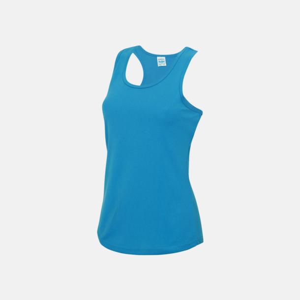 Sapphire Blue (dam) Enfärgade funktionslinnen i unisex-, dam & barnmodell med reklamtryck