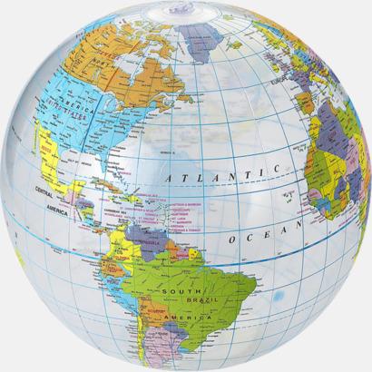 Badbollar med världskarta - med reklamtryck