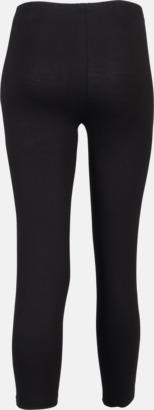 3/4 (bak) Svarta leggings i två längder med reklamtryck