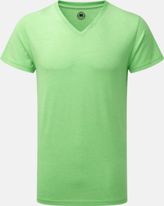 Green Marl (v-neck herr) Färgstarka t-shirts i herr- och dammodell med reklamtryck