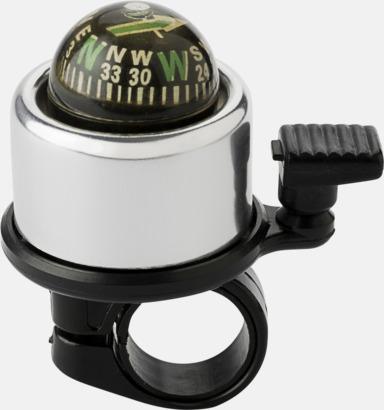 Silver / Svart Ringklocka med kompass - med reklamtryck