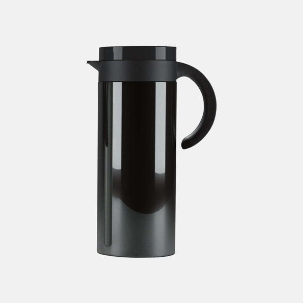 Svart Buffés kaffekanna med reklamtryck