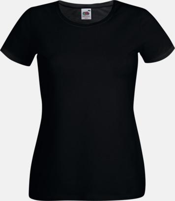 Svart Dam t-shirt med reklamtryck
