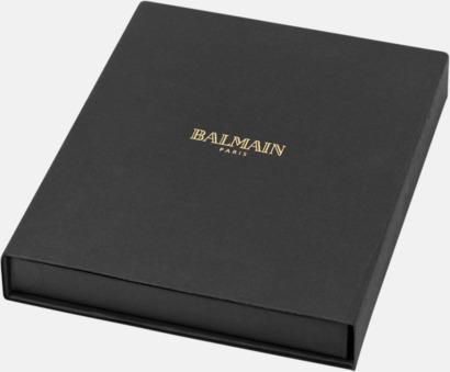 Presentförpackning Gåvoset med penna och A5-anteckningsbok från Balmain med reklamlogo