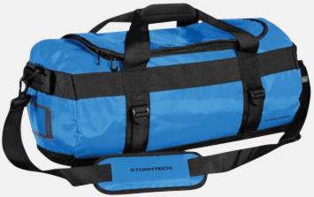 Electric Blue/Svart 35 liters-väskor med reklamtryck