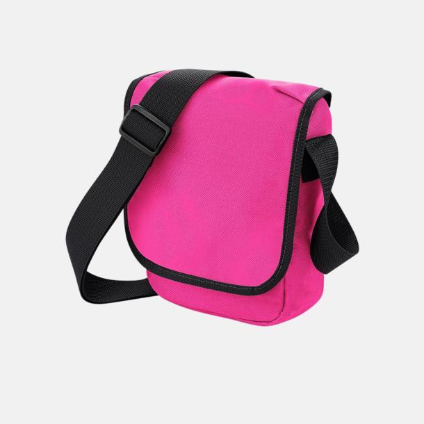 Fuchsia/Svart Liten väska med eget reklamtryck