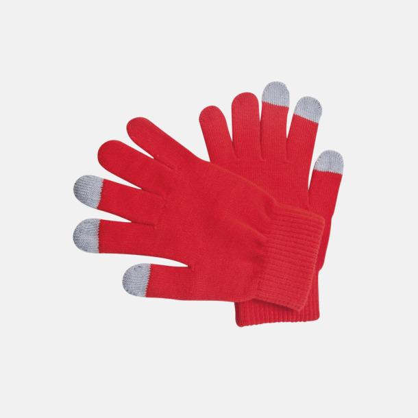 Röd Vantar för touchscreens