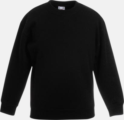 Svart Tjocktröjor för barn med reklamtryck