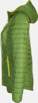 Jungle Green/Acid Yellow sida (dam) Vändbara lättviktsjackor i herr- och dammodell med eget tryck
