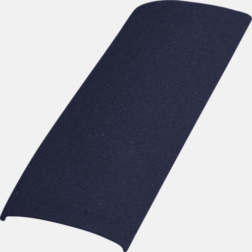 Marinblå Epåletter med kardborrfäste - med reklambrodyr