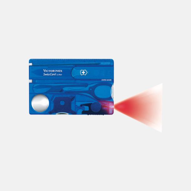 Transparent blå SwissCard Lite från Victorinox med reklamlogga