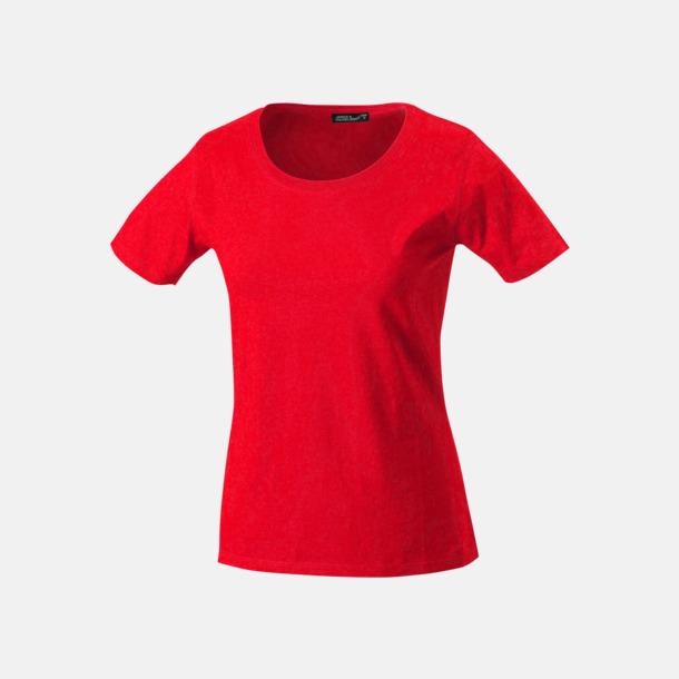 Röd T-shirtar av kvalitetsbomull med eget tryck
