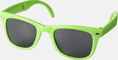 Limegrön (PMS 368C) Solglasögon med vikbar ram - med tryck