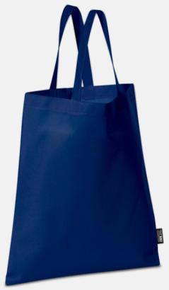 Mörkblå (korta handtag) Billiga kassar med korta eller långa handtag - med reklamtryck