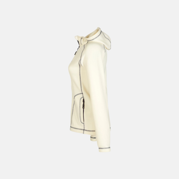 Off-White/Carbon sida (dam) Figursydda herr- & damjackor i fleece med reklamlogo