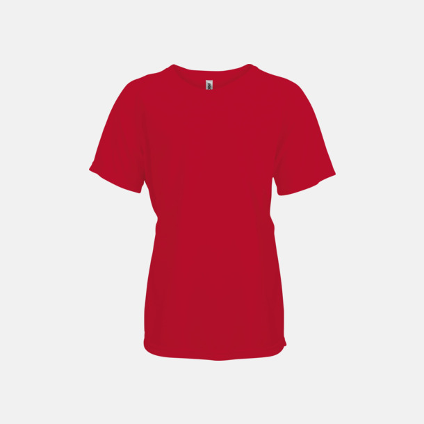 Röd Funktions t-shirts i många färger för barn - med reklamtryck