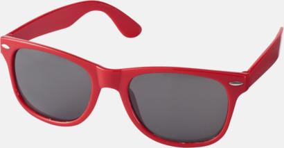 Röd (PMS 186C) Trendiga solglasögon med tryck