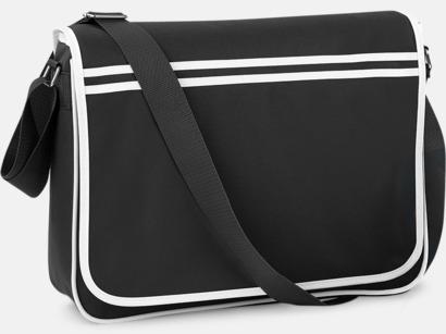 Svart/Vit Reklamväska för laptop med reklamtryck
