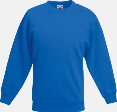 Royal Blue Tjocktröjor för barn med reklamtryck
