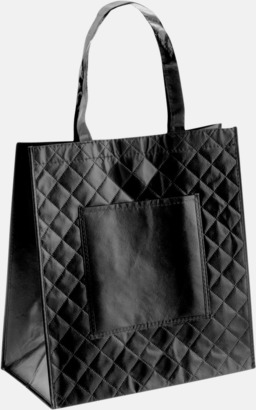 Svart Väska i laminerad non-woven med reklamtryck