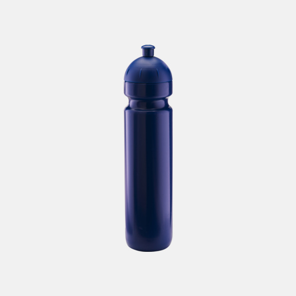 Mörkblå (1000 ml) Bulb-vattenflaskor i 4 storlekar med digitaltryck