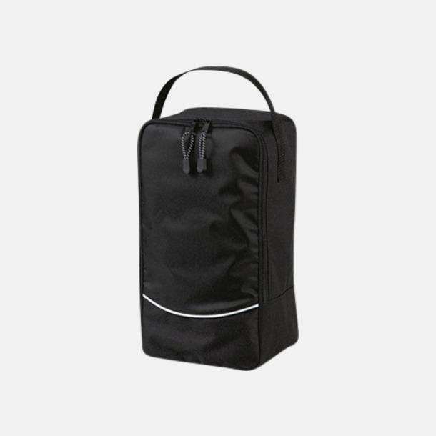 Svart Sko väskor med reklamtryck