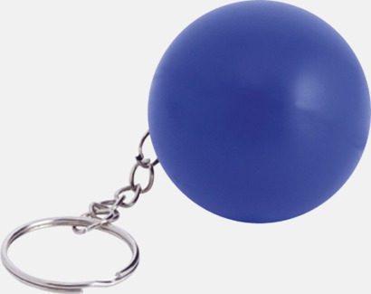 Blå Små stressbollar för nyckelknippan med eget tryck
