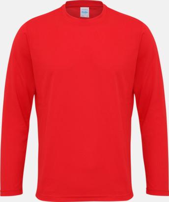 Fire Red (unisex) Unisex tränings t-shirts med långa ärmar - med reklamtryck