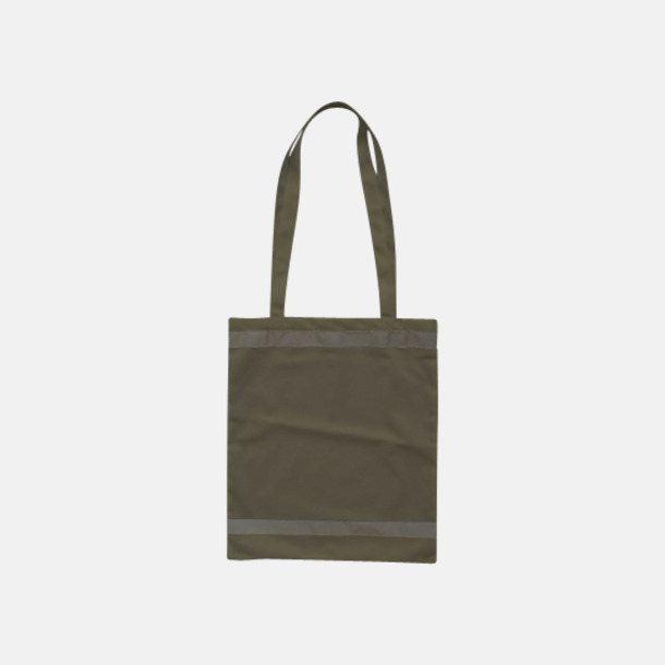 Grå Warnsac® shoppingbag med reklamtryck