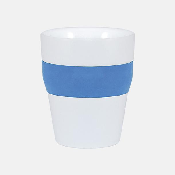 Vit / Blå Robusta take away-muggar med silikonsleeve