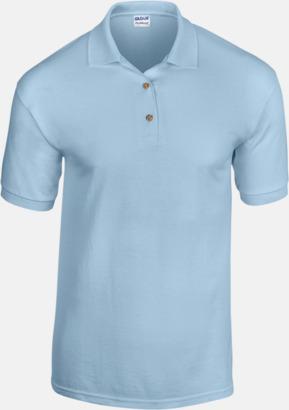 Ljusblå Billiga herrpikétröjor med tryck