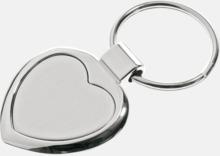 Hjärtformade nyckelringar i rostfritt stål med egen lasergravyr