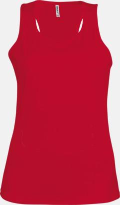 Röd Linnen av funktionsmaterial med reklamtryck