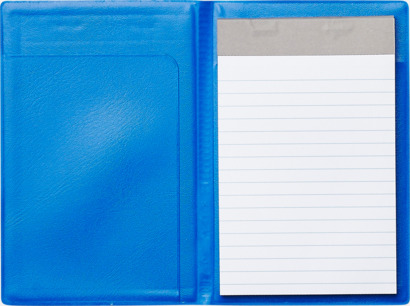 Volvoblå Blockomslag med tryck