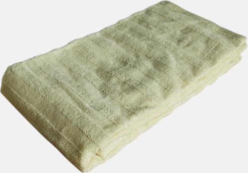 Beige Långa handdukar för bastun - med brodyr