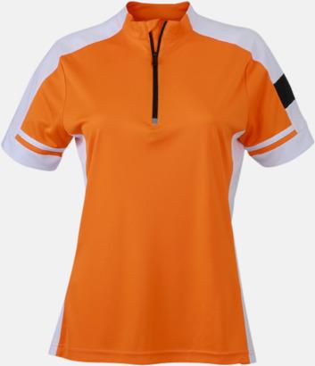 Orange (dam) Herr- och dam cykeltröjor med reklamtryck