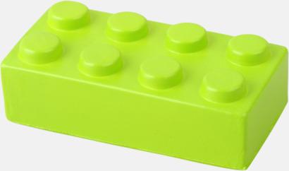 Limegrön Blockformade stressbollar med reklamtryck