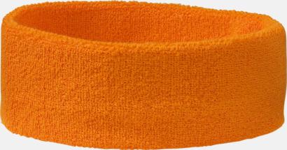 Orange Klassiskt svettband med brodyr