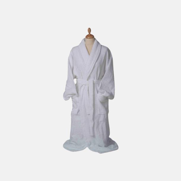 Vit (pastell) Färgglada badrockar med reklambrodyr