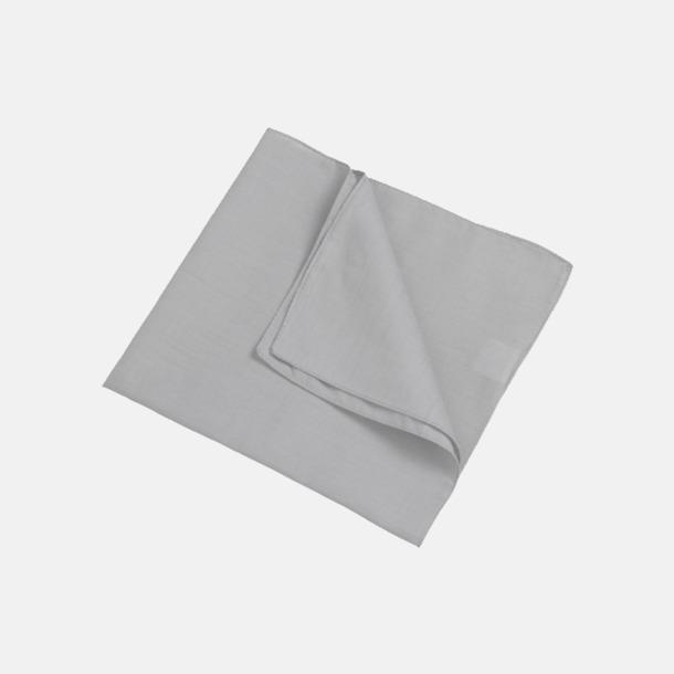 Ljusgrå (scarf) Bandanas i två varianter med reklambrodyr