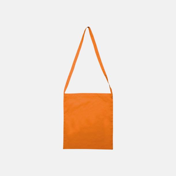 Orange Färgglada bomullskassar med reklamtryck i slingmodell