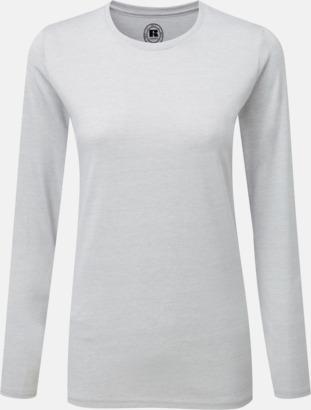 Silver Marl (dam) Färgstarka långärms t-shirts i herr-, dam och barnmodell